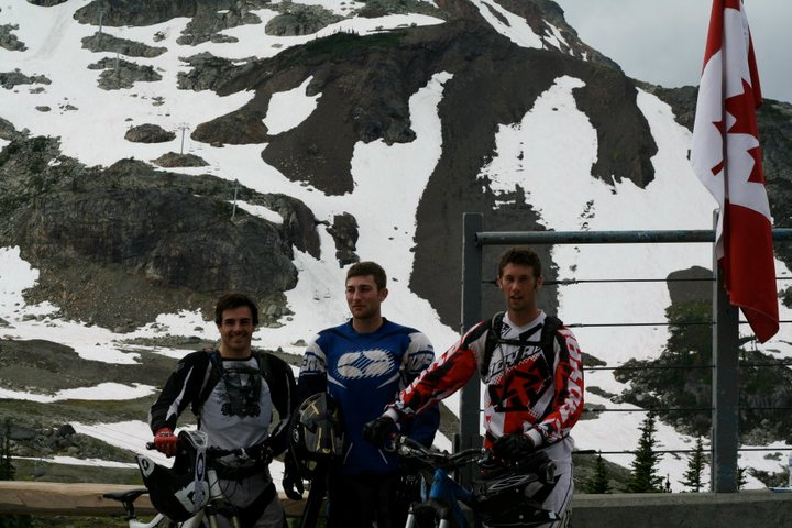 Geoff with Garrett and Garret in Whistler