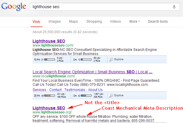 Lighthouse SEO - wrong URL Day 2