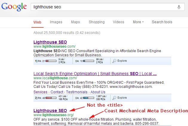 Lighthouse SEO - wrong URL Day 2