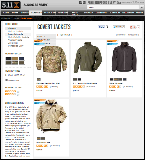 511 Tactical - Covert Jackets
