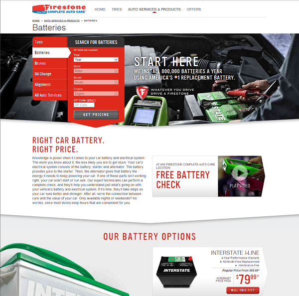 Firestone Car Batteries