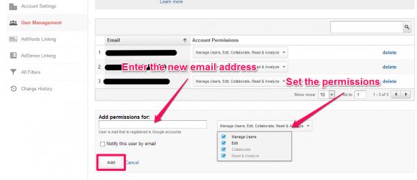Enter user info