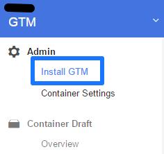 Get GTM Install Code