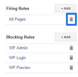Remove Firing Tags