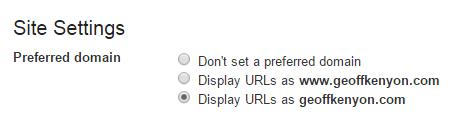 Google Search Console - preferred domain version