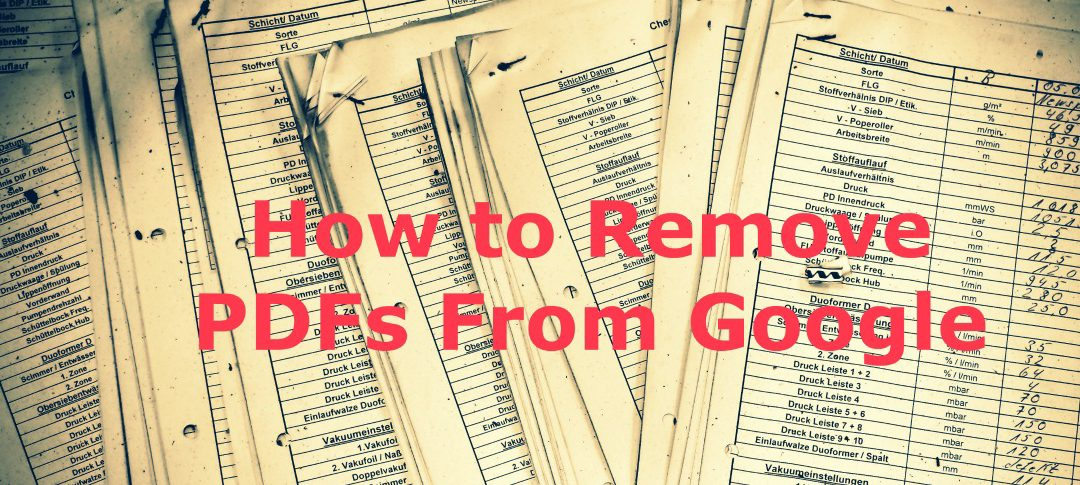 How to Remove PDFs From Google Search