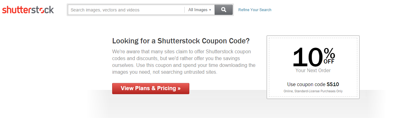 Coupon Page for SEO Example