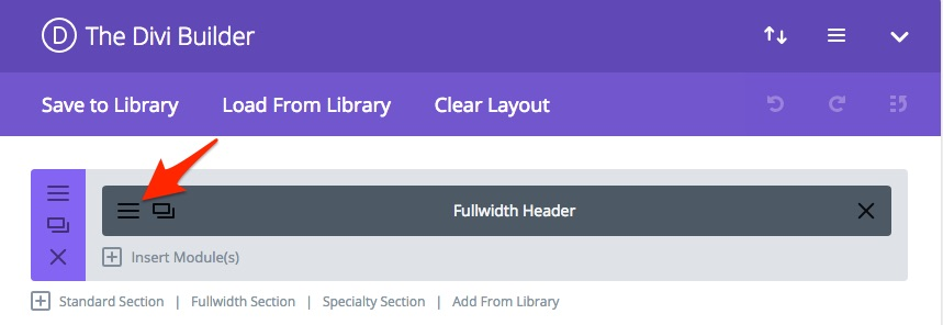 Divi Module Settings