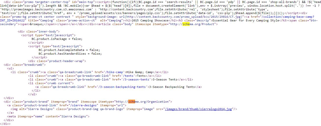 Schema Code Example