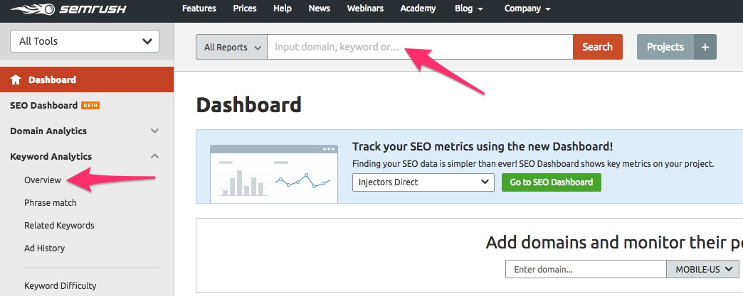 Get This Report about Tools Like Semrush